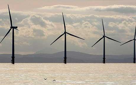 Off shore wind turbines and gannets